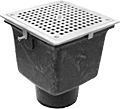 "- 8"" Square x 6"" Deep Floor Sink"