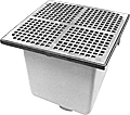 "- 12"" Square x 10"" Deep Floor Sink"