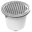 "- 8"" Round x 6"" Deep Floor Sink"
