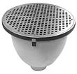"- 12"" Round x 8"" Deep Floor Sink"