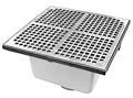 "- 12"" Square x 8"" Deep Floor Sink"