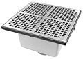 "- 12"" Square x 6"" Deep Floor Sink"
