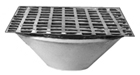 "- 25"" Square x 12"" Deep Flushing Rim Floor Sink"